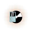 Mp3 player vinyl record comics vector image vector image