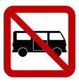 No minibus sign vector image vector image