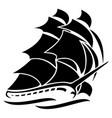 old tall sailing ship vector image