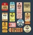 old vintage luggage tag baggage checks or ticket