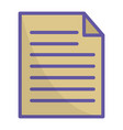 paper document isolated icon vector image