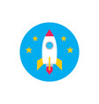 rocket starship - concept colored icon in flat vector image vector image