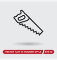 saw icon in modern style for web site and mobile vector image vector image