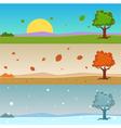 Season Cartoon Banners vector image vector image
