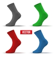 Set of different colors Realistic layout socks A vector image
