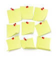 set yellow stickers with space for text