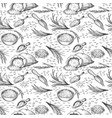 sketch rice seamless pattern outline cereal ears vector image vector image