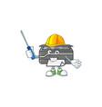 smart automotive printer in cartoon character