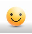 smiley face 3d icon facebook emoji modern design vector image