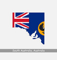 south australia map flag vector image vector image