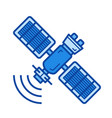 space satellite line icon vector image vector image
