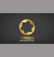 teamwork business gold hands logo design vector image vector image