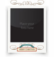 template photo frames Polaroid Christmas vector image