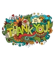 Thank You hand lettering and doodles elements vector image vector image