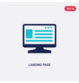 two color landing page icon from big data concept vector image