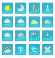 Weather symbols icon blue app