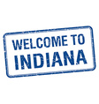 welcome to Indiana blue grunge square stamp vector image vector image
