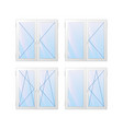 window types of construction vector image