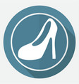 women boots icon on white circle with a long vector image