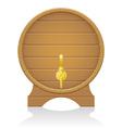 wooden barrel 03 vector image vector image