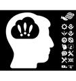 Problem Brainstorm Icon with Tools Bonus vector image