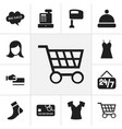 set of 12 editable trade icons includes symbols vector image