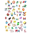 Abstract geometric alphabet icons vector image vector image