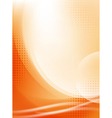 abstract orange flowing background vector image vector image