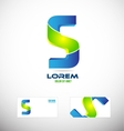Alphabet letter S 3d logo icon vector image vector image