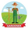 an happy Gardener standing vector image vector image