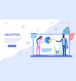 analytics wed page template with businesspeople vector image vector image