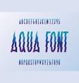 aqua font alphabet vector image