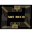 Art deco geometric vintage frame style 1920s 1930 vector image vector image