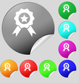 Award Medal of Honor icon sign Set of eight multi vector image vector image