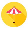 Beach Sun Umbrella Circle Icon vector image vector image
