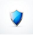 blue shield icon vector image vector image