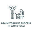 brainstorming process in work team line icon vector image vector image