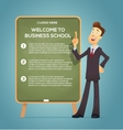 Business coach at the blackboard vector image