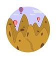 Cappadocia in circle vector image vector image