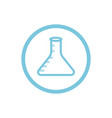 chemical flask blue round icon vector image vector image