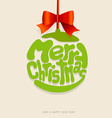 Christmas decoration created from Merry Christmas vector image