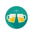Clink mugs with beer icons vector image vector image