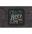 Coaster for beer with hand drawn lettering vector image vector image