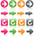 colorful glossy arrows vector image vector image