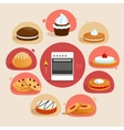 Cookies decorative set vector image