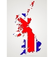 Creative pixel UK map vector image