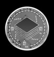 crypto currency stratis silver symbol vector image vector image