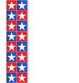 decorative border stripe with usa flag symbols vector image vector image