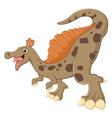 dinosaur posing vector image vector image