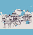drawing sketch ahar cenotaphs india vector image vector image